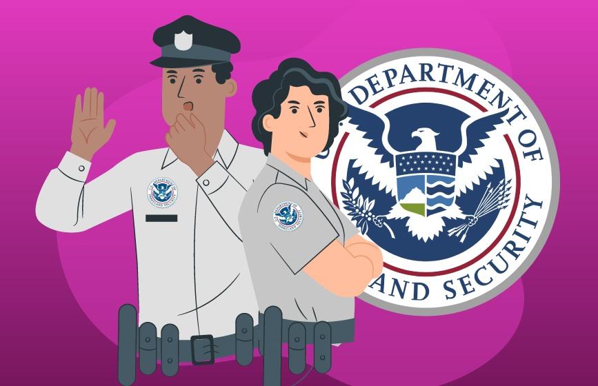 Fuerzas de seguridad durante un huracán
